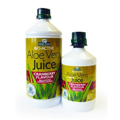 Сок от Алое Вера и Боровинка ОПТИМА 500мл, 1л   Aloe Vera and Cranberry juice OPTIMA 500ml, 1l