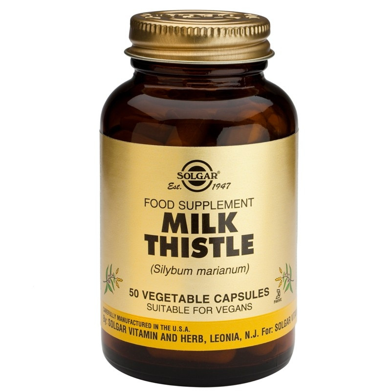 МАГАРЕШКИ ТРЪН раст. капсули 50бр. СОЛГАР | MILK THISTLE veg.caps 50s SOLGAR
