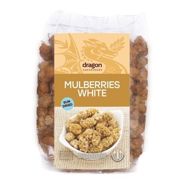 БИО Бели черници 150гр ДРАГОН СУПЕРФУУДС   BIO White mulberries 150g DRAGON SUPERFOODS