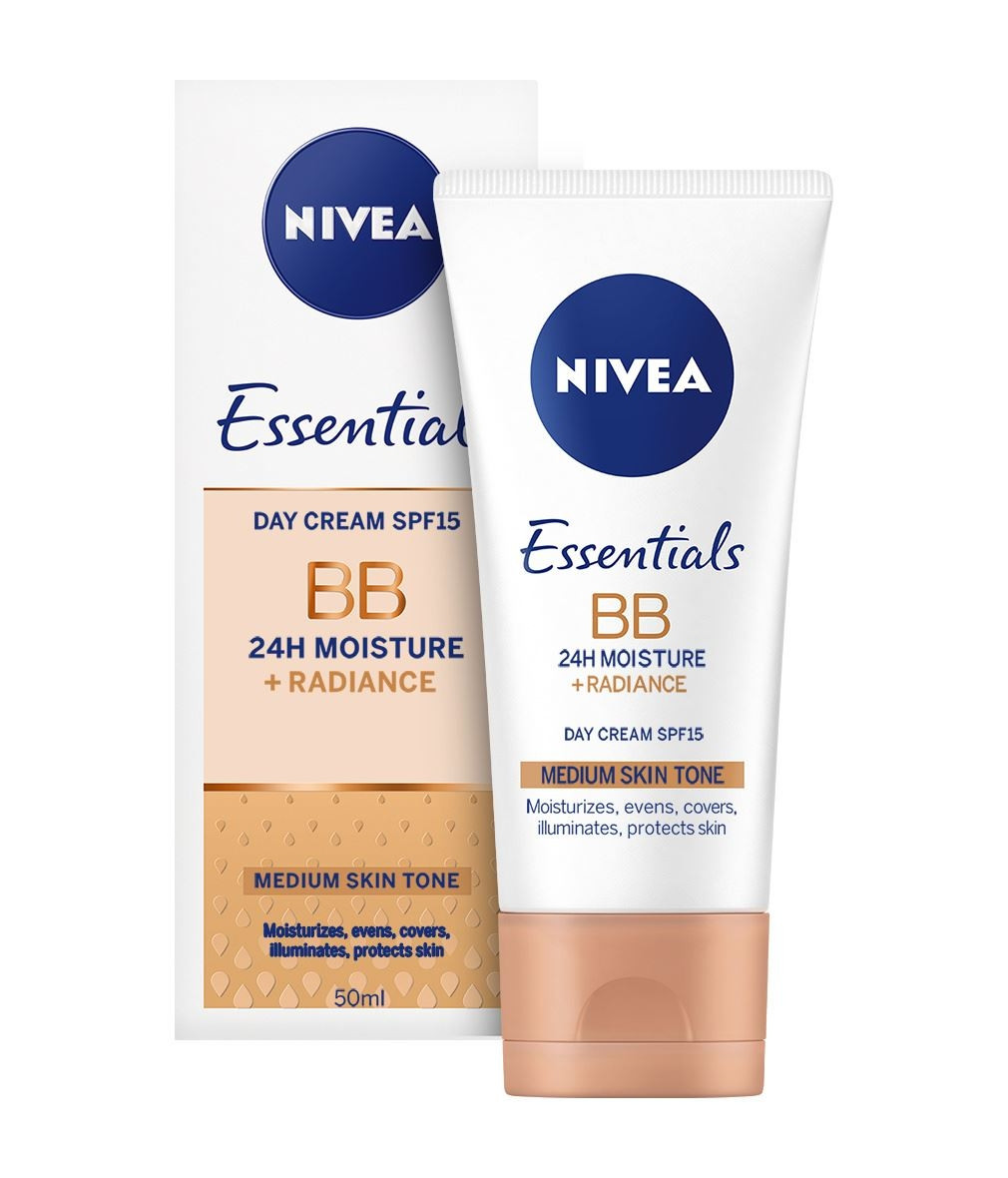 НИВЕА BB крем за лице среден тон 50мл | NIVEA BB cream 5in1 beautifying moisturizer medium to dark 50ml