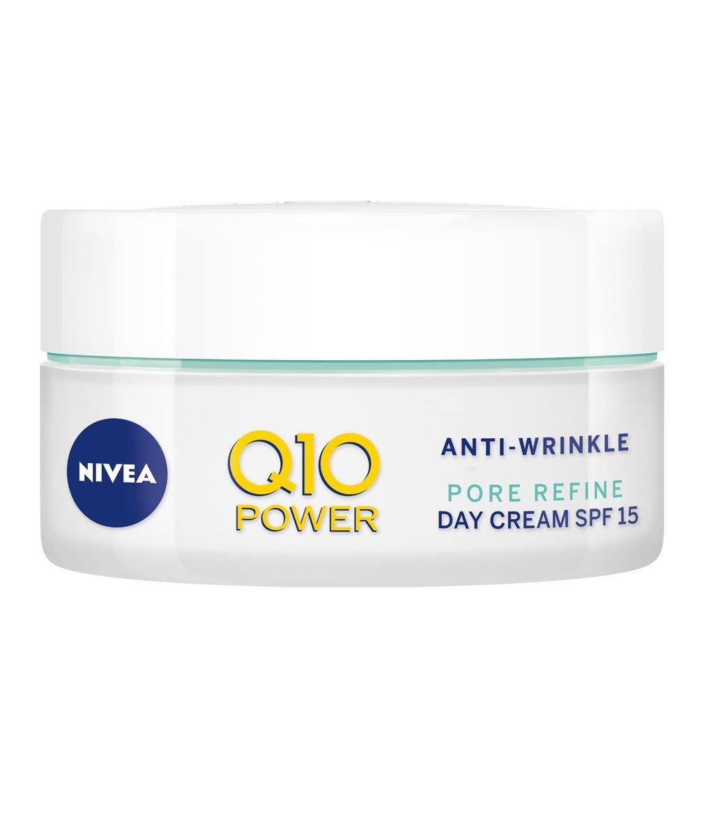 НИВЕА Q10+ ПАУЪР Дневен крем против бръчки за смесена кожа SPF15 50мл   NIVEA Q10+ POWER Anti-wrinkle moistiruzing day combination skin SPF15 50ml