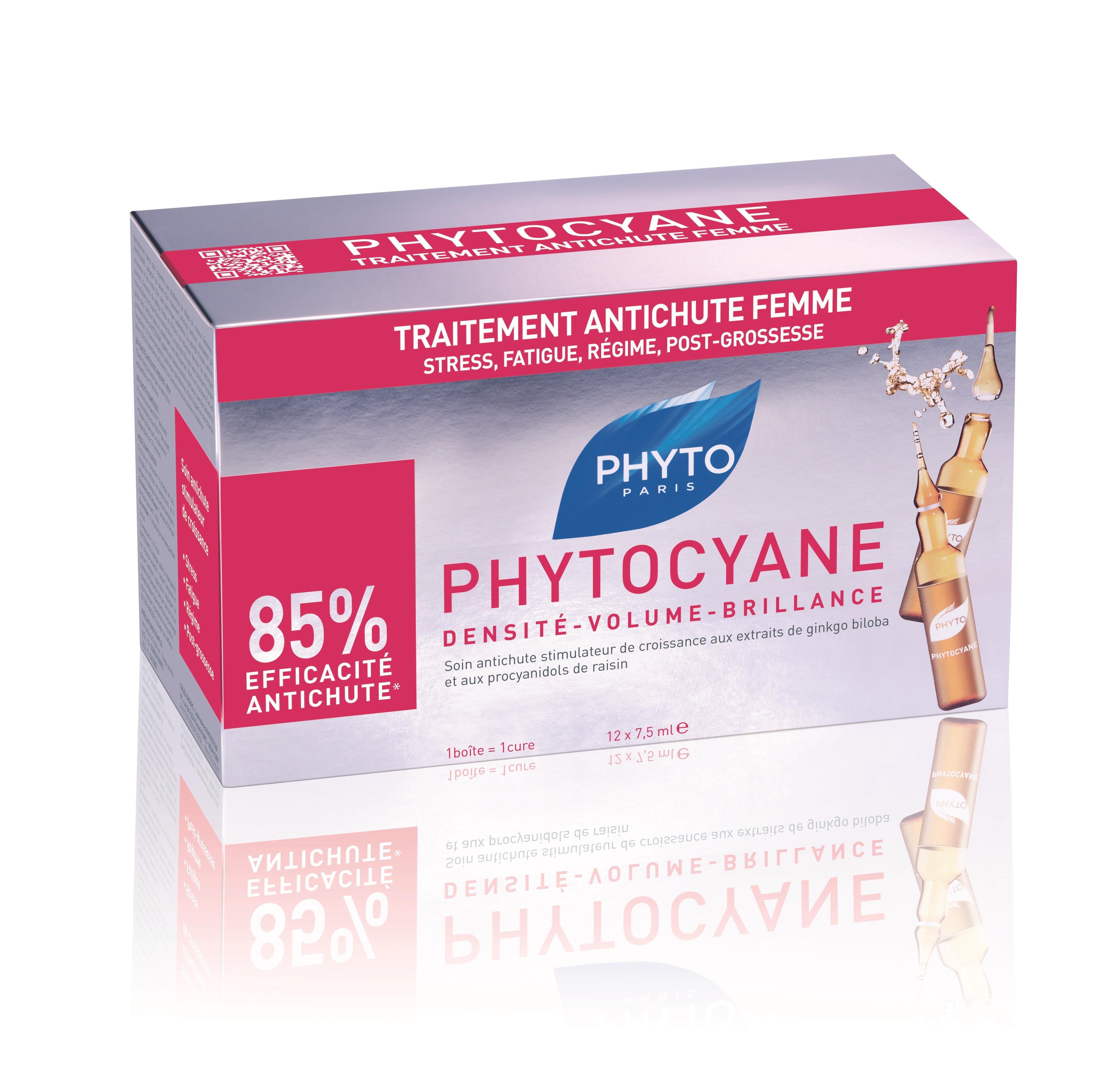 ФИТО ФИТОЦИАН Серум против косопад за жени 12бр ампули x7.5мл | PHYTO PHYTOCYANE Densifying treatment serum 12x7.5ml