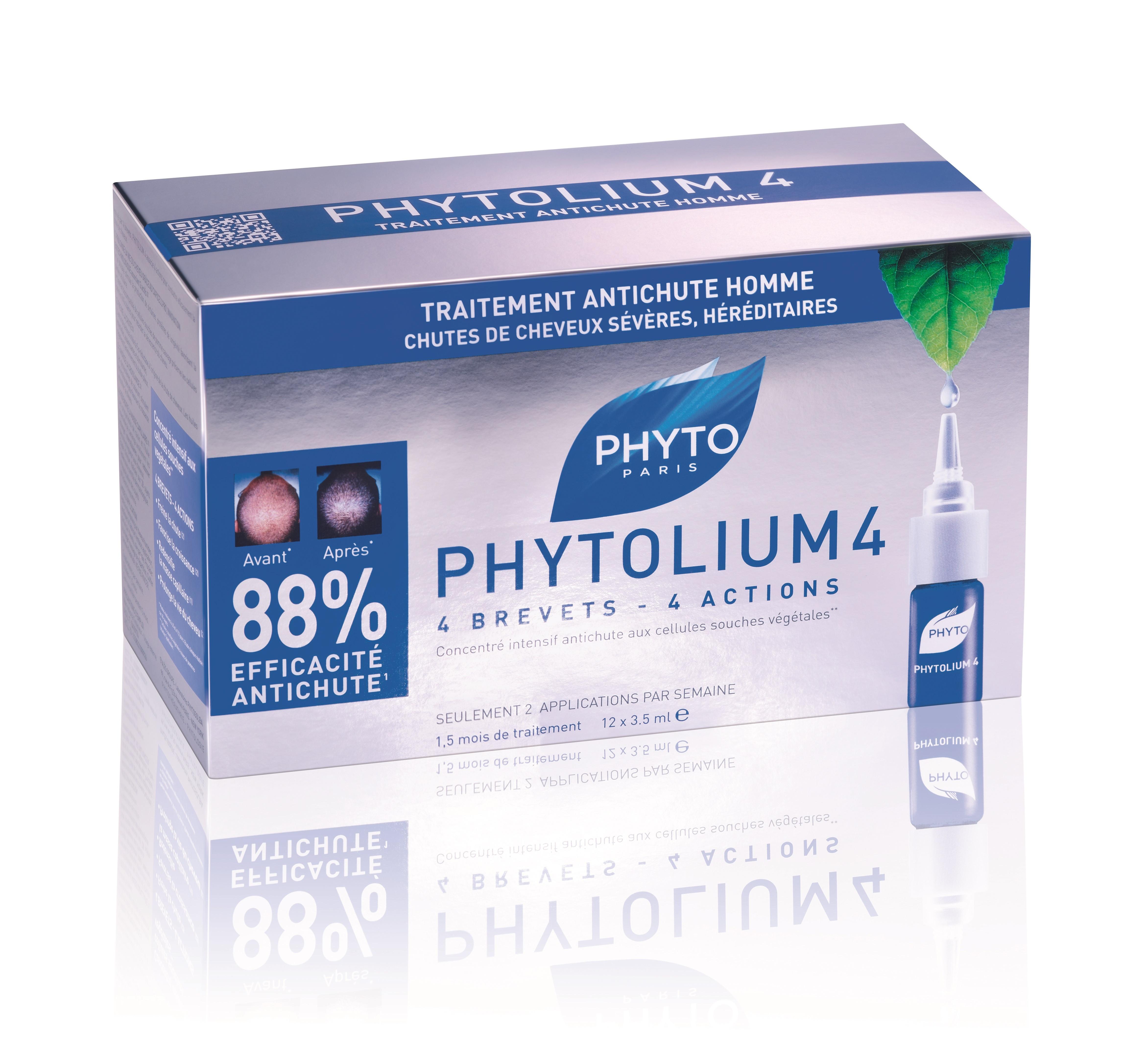 ФИТО ФИТОЛИУМ 4 Серум срещу обилен и постоянен косопад 12бр ампули x3.5мл | PHYTO PHYTOLIUM 4 Chronic thinning hair treatment 12x3.5ml