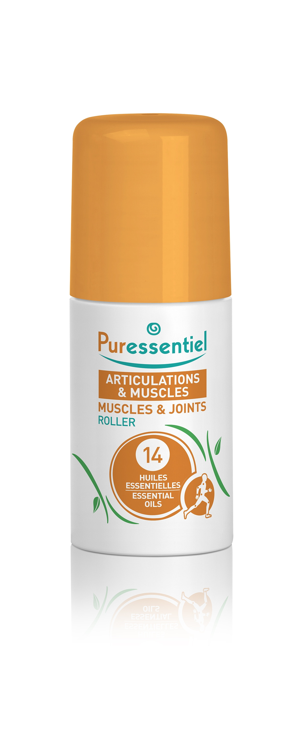 ПЮРЕСЕНШЪЛ Рол-он за стави и мускули с 14 етерични масла 75мл   PURESSENTIEL Muscles and Joints Roller with 14 essential oils 75ml