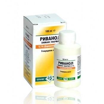РИВАНОЛ ХИМАКС ФАРМА 0,1% разтвор за кожа 100мл. | RIVANOL CHEMAX PHARMA 0,1% cutaneous solution 100ml