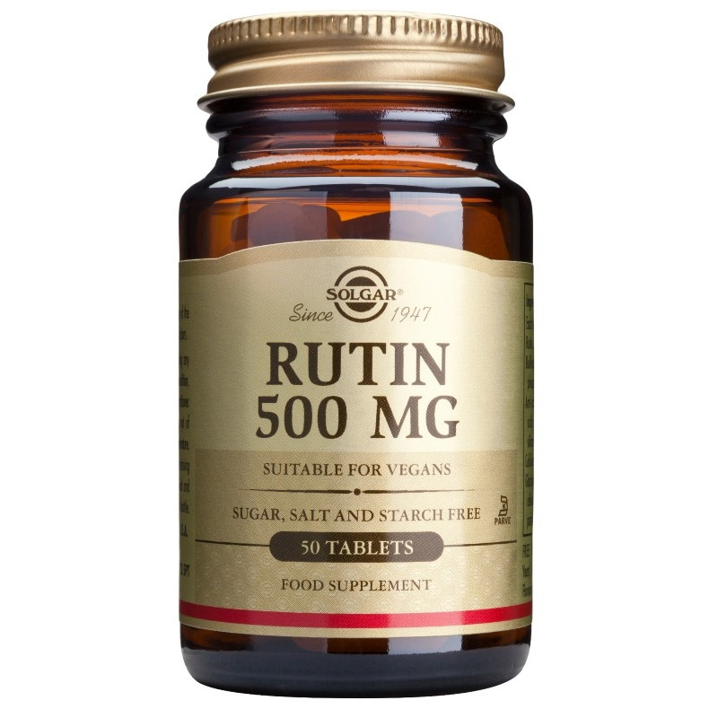 РУТИН 500мг таблетки 50бр. СОЛГАР | RUTIN 500mg tabs 50s SOLGAR