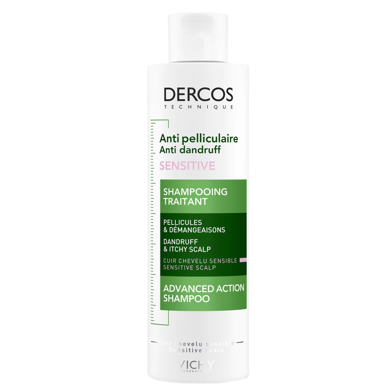 Шампоан против пърхот за чувствителен скалп 200мл ДЕРКОС ВИШИ | Shampoo anti-dandruff advanced action sensitive scalp 200ml DERCOS VICHY