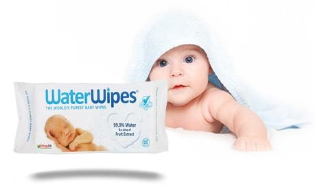 Мокри кърпи с 99.9% вода 60бр УОТЪР УАЙПС | Wet wipes with 99.9% water 60s WATER WIPES