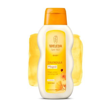 ВЕЛЕДА Oлио с невен за масаж и почистване - без аромат 200мл | WELEDA Calendula pflegeöl unparfümiert 200ml