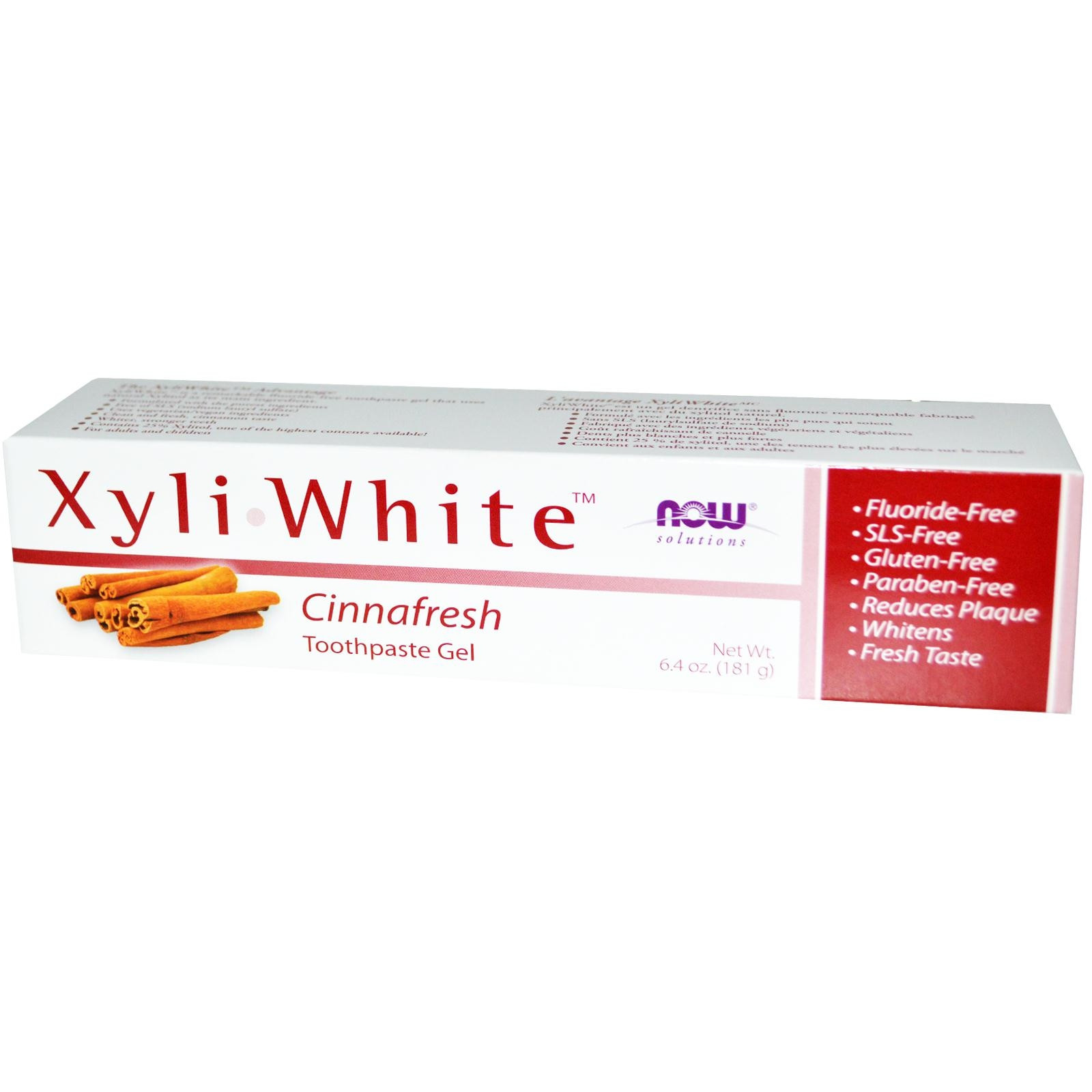 НАУ ФУУДС КСИЛИУАЙТ™ КАНЕЛА паста за зъби 200г | NOW FOODS XYLIWHITE™ CINNAFRESH toothpaste 200g