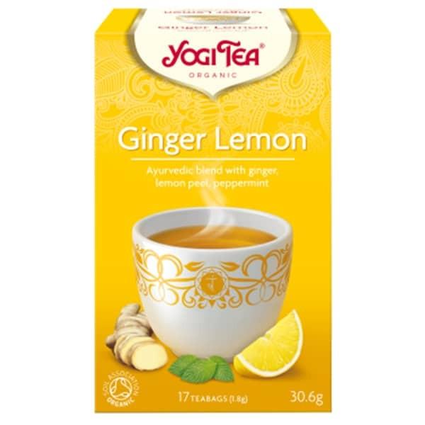 "ЙОГИ ОРГАНИК БИО Аюрведичен чай ""Джинджифил с лимон"", пакетчета 17бр   YOGI ORGANIC BIO Ayurvedic tea blend ""Ginger lemon"" teabags 17s"