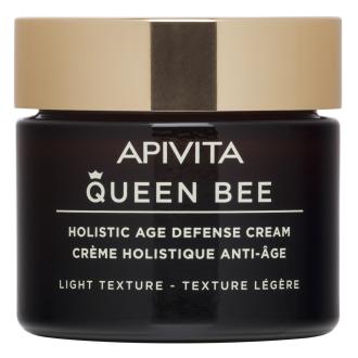 Крем за лице за нормална и комбинирана кожа х 50мл КУИЙН БИЙ АПИВИТА | Holistic Age Defense Cream for normal to combination skin - Light Texture x 50ml QUEEN BEE APIVITA