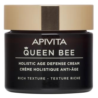 Крем за лице за суха кожа х 50мл КУИЙН БИЙ АПИВИТА | Holistic Age Defense Cream for dry skin - Rich Texture x 50ml QUEEN BEE APIVITA