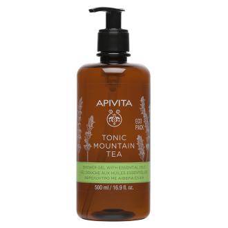 Душ гел с планински чай x 500мл АПИВИТА | Shower gel Tonic mountain tea  x 500ml APIVITA