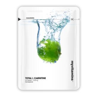 ТОТАЛ Л-КАРНИТИН 500mg 60 таблетки МАЙВИТАМИНС | TOTAL L-CARNITINE 500mg 60 tabs MYVITAMINS