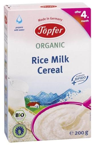 TЬОПФЕР БИО ОРГАНИК Млечна оризова каша 4+ 200гр | TOPFER BIO ORGANIC Rice milk cereal 4+ 200g