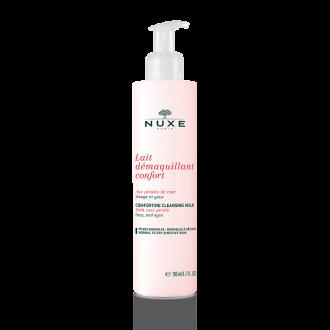 НУКС ПЕТАЛС ДЕ РОУЗ Почистващо мляко 200мл | NUXE PETALES DE ROSE Cleansing milk with rose petals 200ml