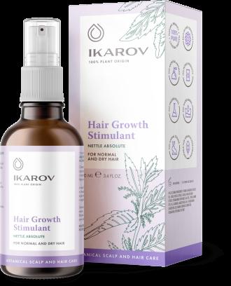 ИКАРОВ Стимулант за растеж на косата с абсолю от КОПРИВА 100мл | IKAROV Hair growth stimulant whit NETTLE absolute 100ml