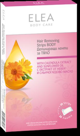 ЕЛЕА Депилиращи ленти за тяло 20бр | ELEA Hair removing Body strips 20s