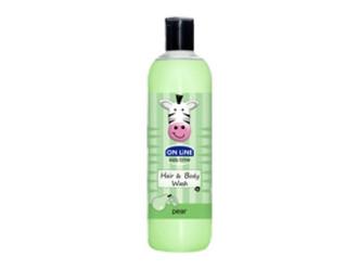 ОН ЛАЙН Детски шампоан и душ гел с аромат на Круша 500мл | ON LINE Children's shampoo and shower gel whit Pear flavor 500ml