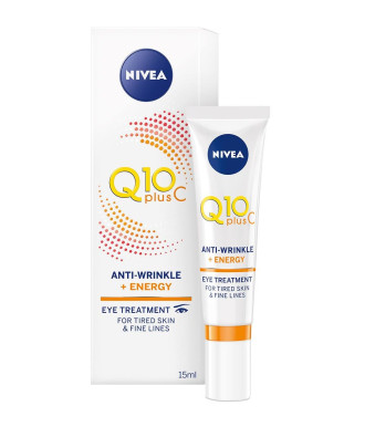 НИВЕА Q10 ПЛЮС Ц Енергизиращ околоочен крем против бръчки 15мл | NIVEA Q10 PLUS C Anti wrinkle + energy eye cream 15ml