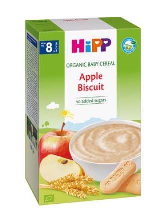 ХИП БИО Каша ябълки и бисквити 8+ м. 250гр. | HIPP BIO Apple biscuit mash 8+ m 250g