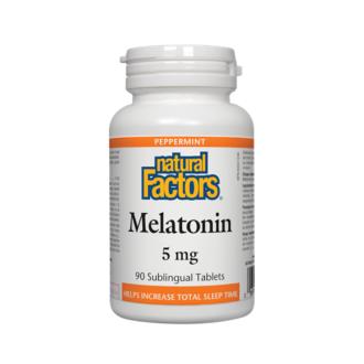 МЕЛАТОНИН 5мг 90 таблетки НАТУРАЛ ФАКТОРС | MELATONIN 5mg 90 tabs NATURAL FACTORS