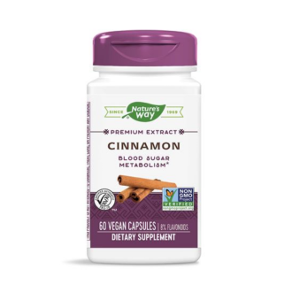 КАНЕЛА 400мг капсули 60 бр. НЕЙЧЪР'С УЕЙ | CINNAMON 400mg caps 60s NATURE'S WAY
