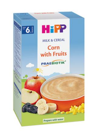 ХИП ПРЕБИОТИК® Млечна каша царевица с плодове 6+ м. 250гр. | HIPP PREBIOTIC® Milk mash Corn with fruits 6+ m 250g