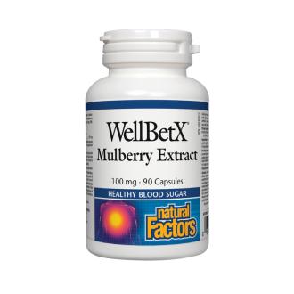БЯЛА ЧЕРНИЦА 100мг капс. 90бр. НАТУРАЛ ФАКТОРС | WELLBETX 100 mg caps 90s NATURAL FACTORS