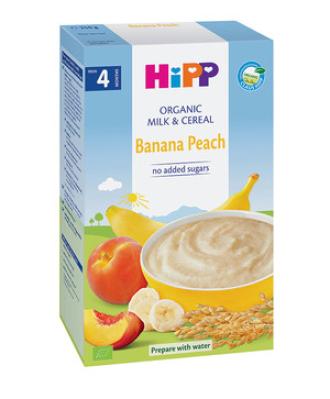 ХИП БИО Млечна каша банан и праскова 4+ м. 250гр. | HIPP BIO Milk mash banana and peach 4+ m 250g
