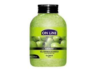 ОН ЛАЙН Пенобразуващи соли за вана с Маслина 600гр.   ON LINE Foaming bath salts with Olive 600g