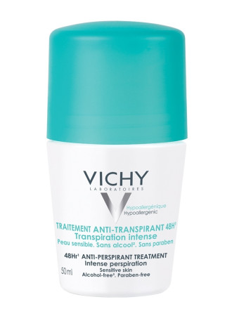 ВИШИ Дезодорант рол-он против интензивно изпотяване 48ч 50мл | VICHY Deodorant anti-perspirant treatment intensive perspiration 48h 50ml