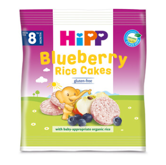 ХИП БИО оризови бисквити с боровинки 8+ м. 30гр. | HIPP BIO bluberry rice cakes 8+ m 30g