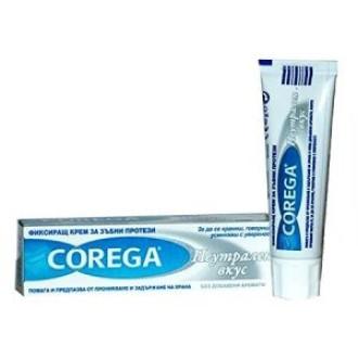 КОРЕГА НЕУТРАЛ Фиксиращ крем за зъбни протези 40гр ГЛАКСО СМИТ КЛАЙН | COREGA NEUTRAL Fixing cream for dentures 40g GLAXO SMITH KLINE