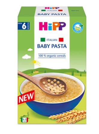 ХИП БИО Италианска бебешка паста - кус-кус на звездички 320гр   HIPP BIO Organic Italian baby pasta - stars 320gr