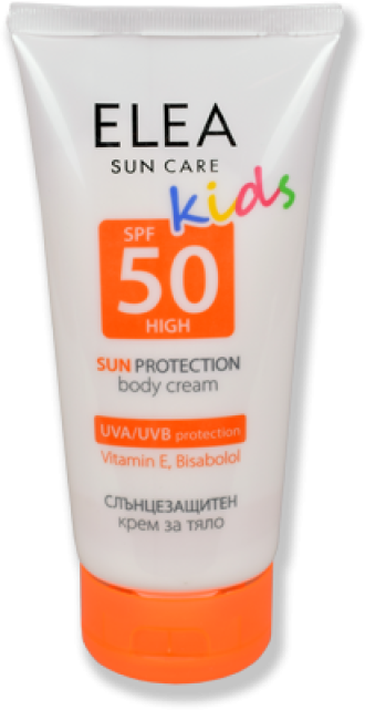 ЕЛЕА Детски слънцезащитен крем за тяло SPF 50 150мл | ELEA Sun care SPF 50 kids 150ml