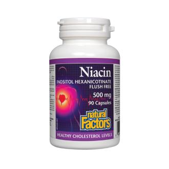 НИАЦИН (ИНОЗИТОЛ) 620мг 90 капсули НАТУРАЛ ФАКТОРС   NIACIN (INOSITOL) 620mg 90 capsules NATURAL FACTORS
