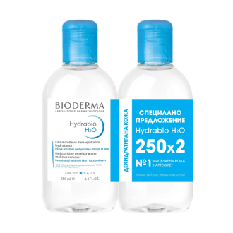 Мицеларна вода 2 x 250мл ХИДРАБИО H2O БИОДЕРМА| HYDRABIO H2O 2 x 250ml BIODERMA