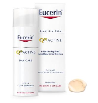 ЮСЕРИН Q10 АКТИВ Дневен флуид за лице SPF15 + UVA защита 50мл | EUCERIN Q10 ACTIVE Anti-wrinkle day cream SPF15 + UVA protection 50ml