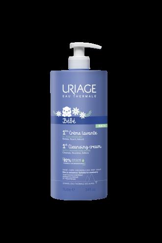 ЮРИАЖ БЕБЕ Почистващ крем за бебета с изплакване 1л | URIAGE BABY 1st cleansing cream 1l