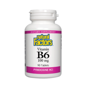ВИТАМИН Б6 100мг. 90 таблетки НАТУРАЛ ФАКТОРС | VITAMIN B6 100mg 90 tabs NATURAL FACTORS
