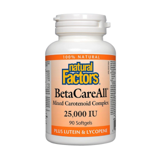 BetaCareAll® 25000 IU 90бр. софтгел капсули НАТУРАЛ ФАКТОРС | BetaCareAll® 25000 IU 90s softgels NATURAL FACTORS