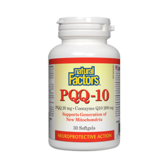 PQQ-10® (Пиролохинолин квинон 20мг + Q10 200мг) 30бр. софтгел капс. НАТУРАЛ ФАКТОРС | PQQ-10® (Pyrroloquinoline quinone 20mg + Q10 200mg) 30s softgels NATURAL FACTORS
