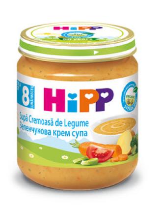 ХИП БИО Пюре Зеленчукова крем супа 8+ м. 200гр. | HIPP BIO Vegetable cream soup puree 8+ m 200g