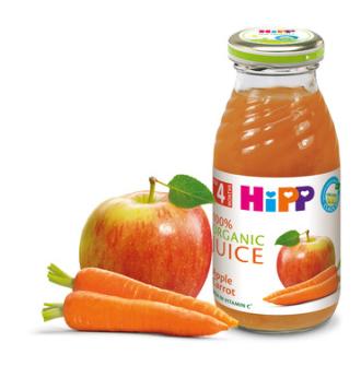 ХИП БИО Сок от ябълки и моркови 4+ м. 200мл.   HIPP BIO Organic juice apple and carrot 4+ m 200ml