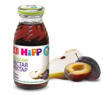 ХИП БИО Нектар от сливи с круши 4+ м. 200мл. | HIPP BIO Organic nectar plum and pear 4+ m 200ml