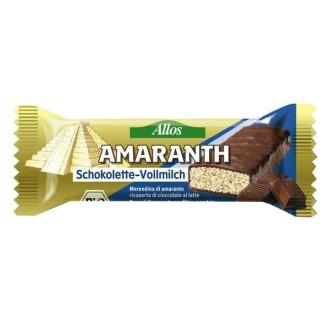 БИО Амарант Бар с Млечен шоколад 25гр АЛОС | BIO Amaranth Bar with Chocolate 25g ALLOS