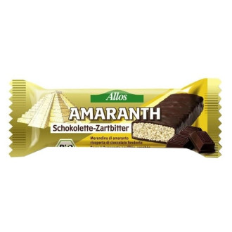 БИО Амарант Бар с Натурален шоколад 25гр АЛОС | BIO Amaranth Bar with Dark Chocolate 25g ALLOS