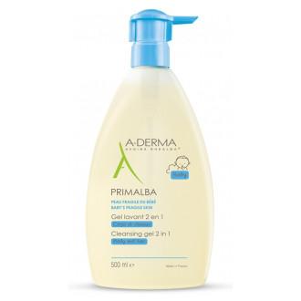 А-ДЕРМА ПРИМАЛБА Нежен почистващ гел 2 в 1 500мл | A-DERMA PRIMALBA Gel lavant 2 en 1 500ml